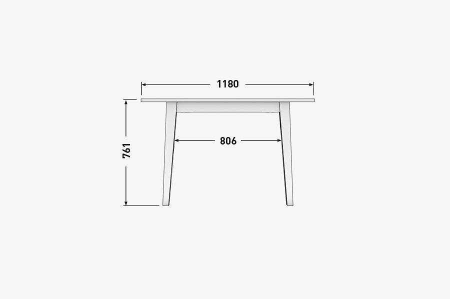 Solenn Design Tisch Knorke-01 Technische Zeichnung Seite