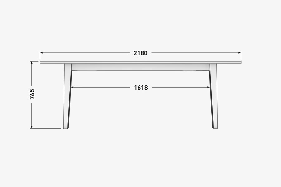 Solenn Design Tisch Knorke 03 Technische ZeichnungSeite