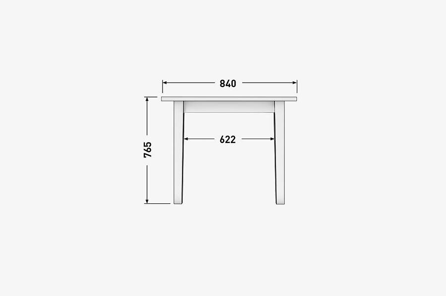 Solenn Design Tisch Knorke 03 Technische Zeichnung Front
